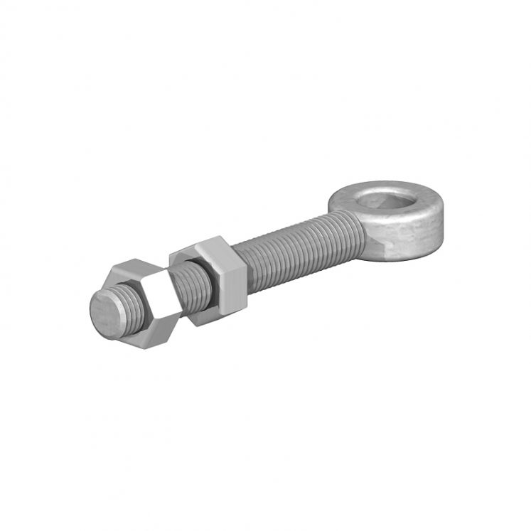 Adjustable Gate Eye Bolts with Nuts