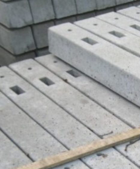 Concrete Morticed Posts