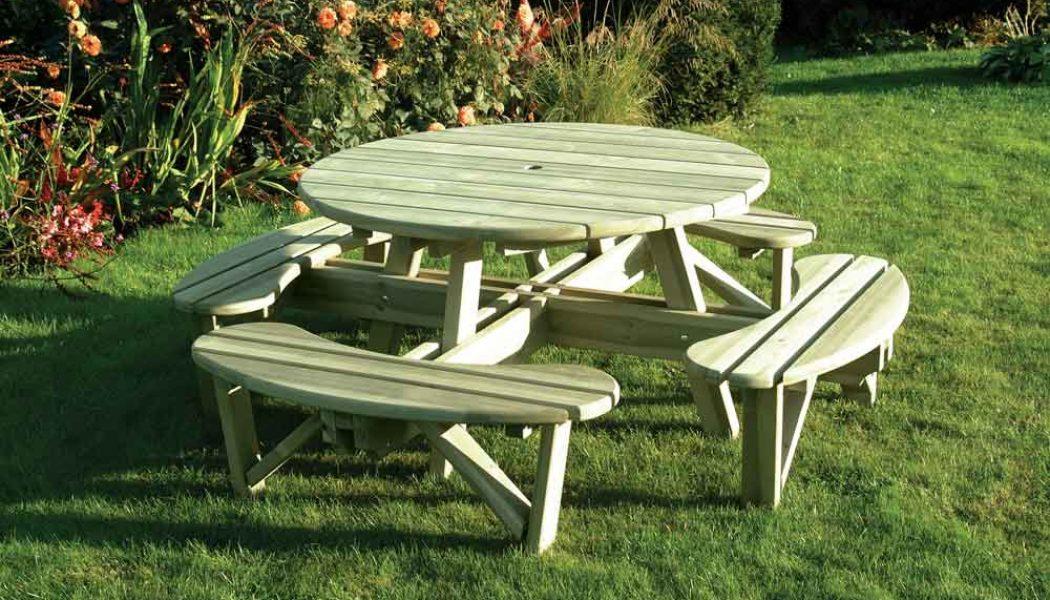 Elite Round Table & Bench Seat