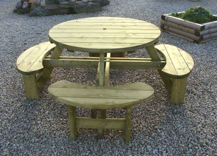 Round Table & Bench Seat