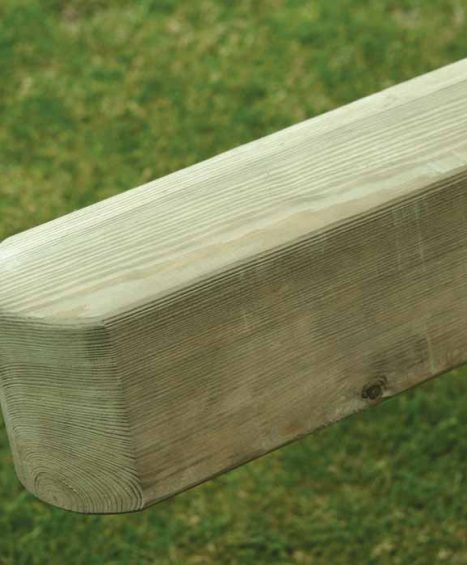 Smooth Planed Pine Posts – 2 Way Rounded