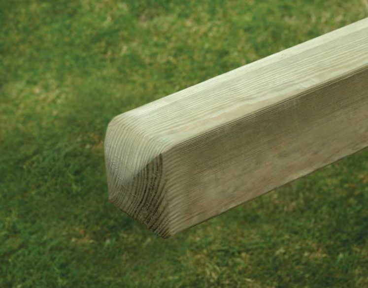 Smooth Planed Pine Posts – 4 Way Rounded