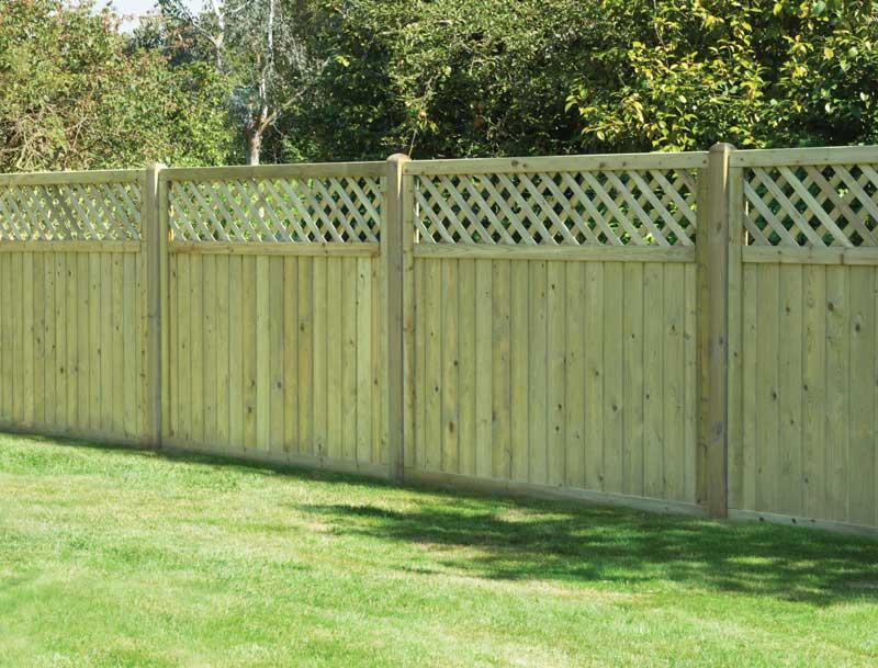 Tongue Amp Groove Lattice Top Timber Panels Garden