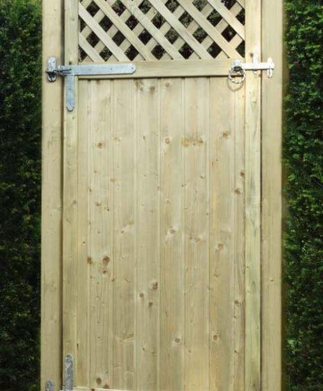 Tongue & Groove Lattice Top Gate