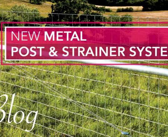 NEW Metal Post & Strainer Systems
