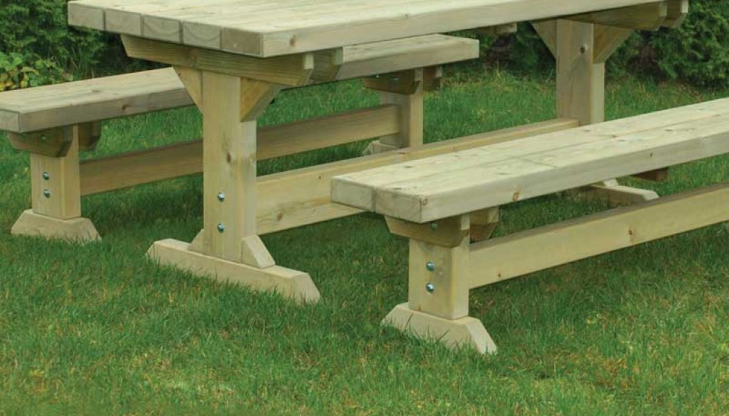 Farm Table & Bench Set