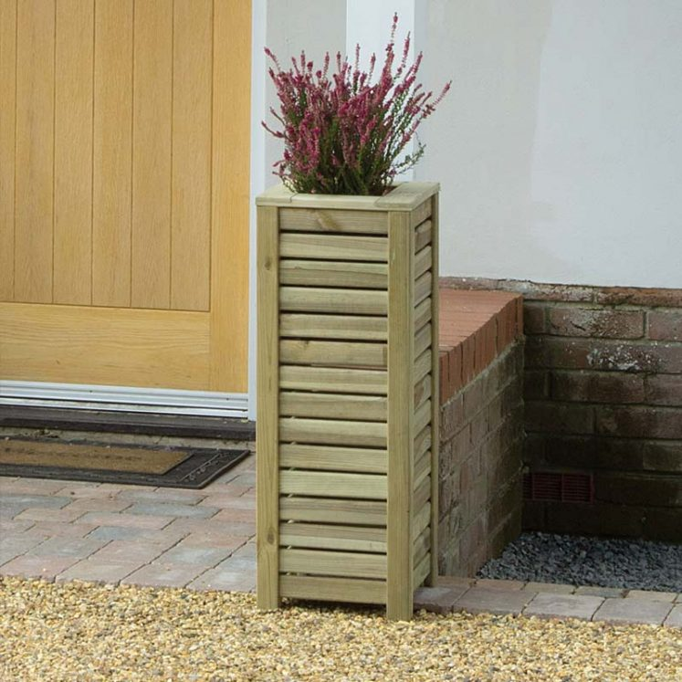 Slatted Square Planter