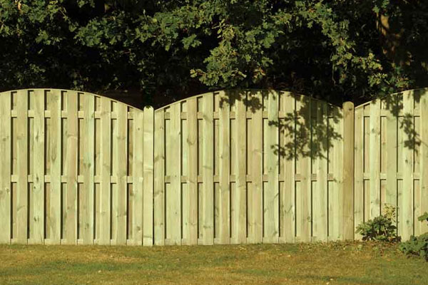Double Sided Paling Timber Fence Panel in Ashford Kent