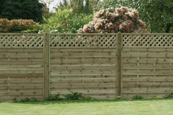Lattice Top Timber Fence Panel in Ashford Kent