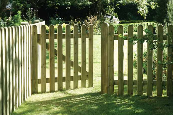 Round Top Picket Timber Fence Panel in Ashford Kent