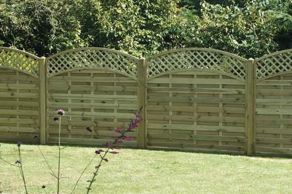 Arched Timber Fence Panels in Ashford Kent