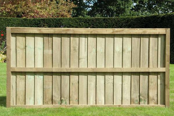 Flat Top Timber Fence Panel in Ashford Kent