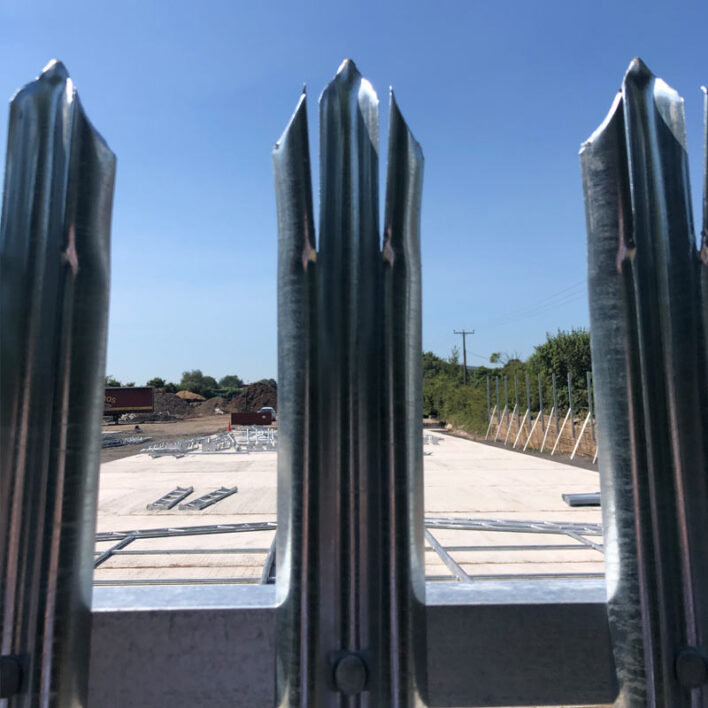 2.0m High Steel Palisade