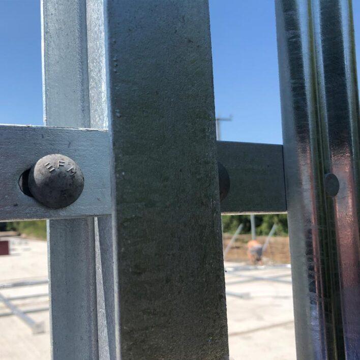 2.4m High Steel Palisade