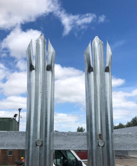 1.8m High Steel Palisade Gates