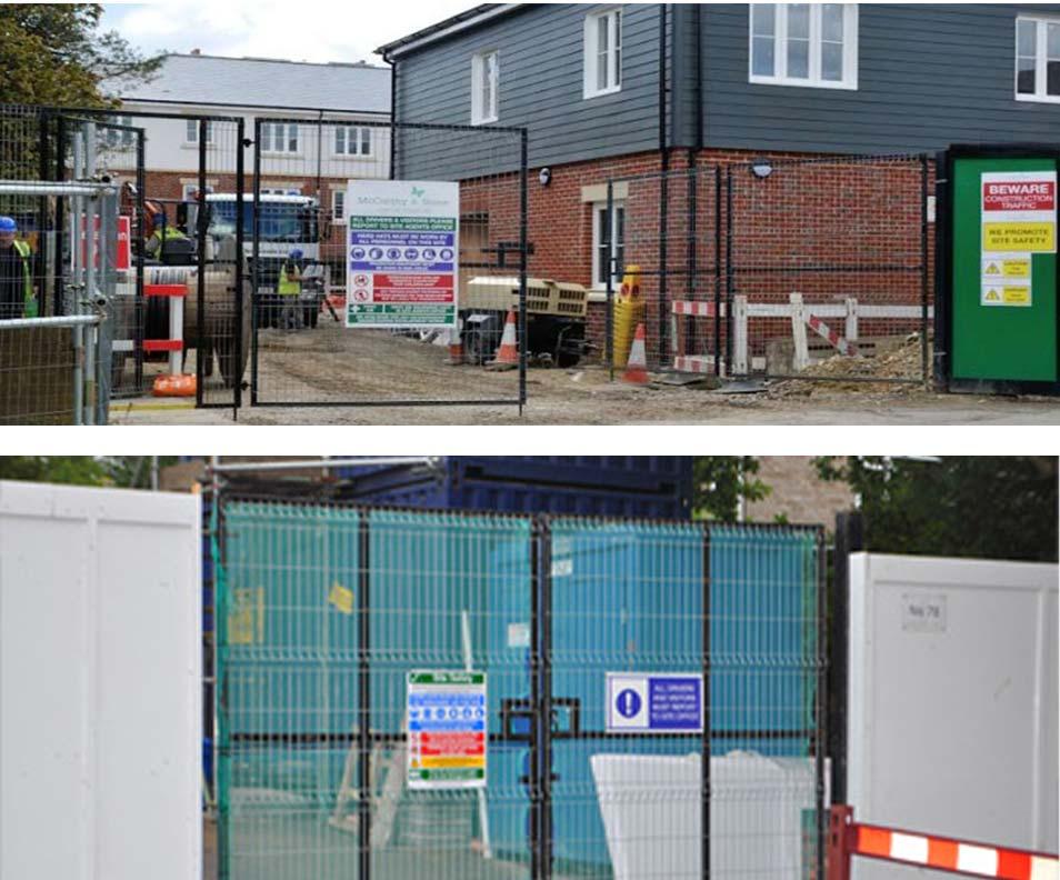 Construction Site Gates in Ashford Kent