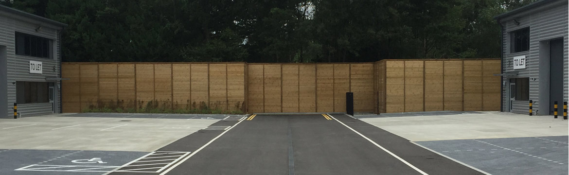 Reflective Acoustic Fencing Installation