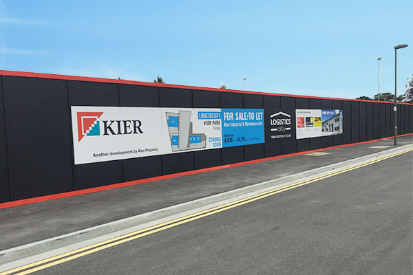 Timber Site Hoarding Installation Kent