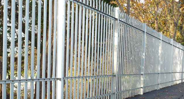 Three Rail Steel Palisade Fencing