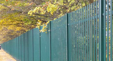 Round Top Steel Palisade Fencing