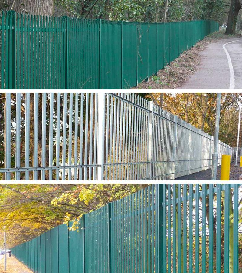 Steel Palisade Fencing Installation Kent