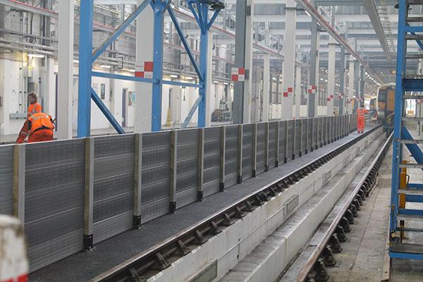 Railway Pedestrian Guardrail Installation